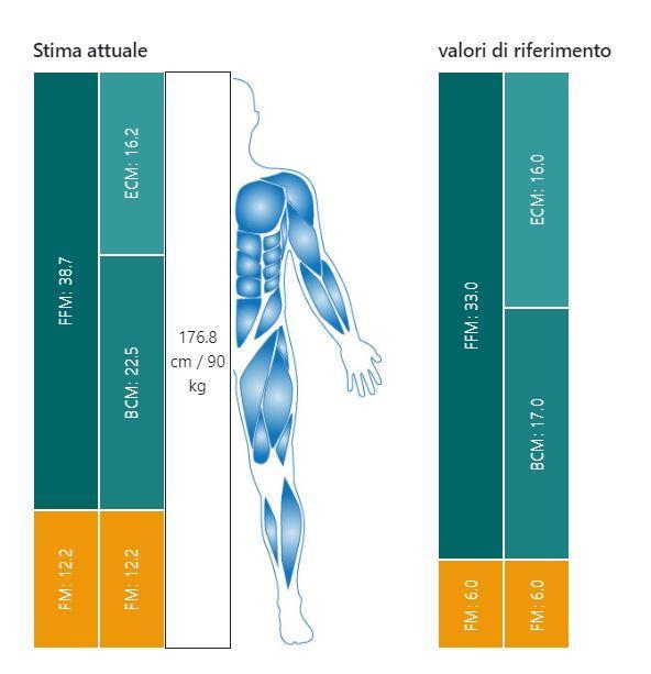 Composizione corporea report esempio